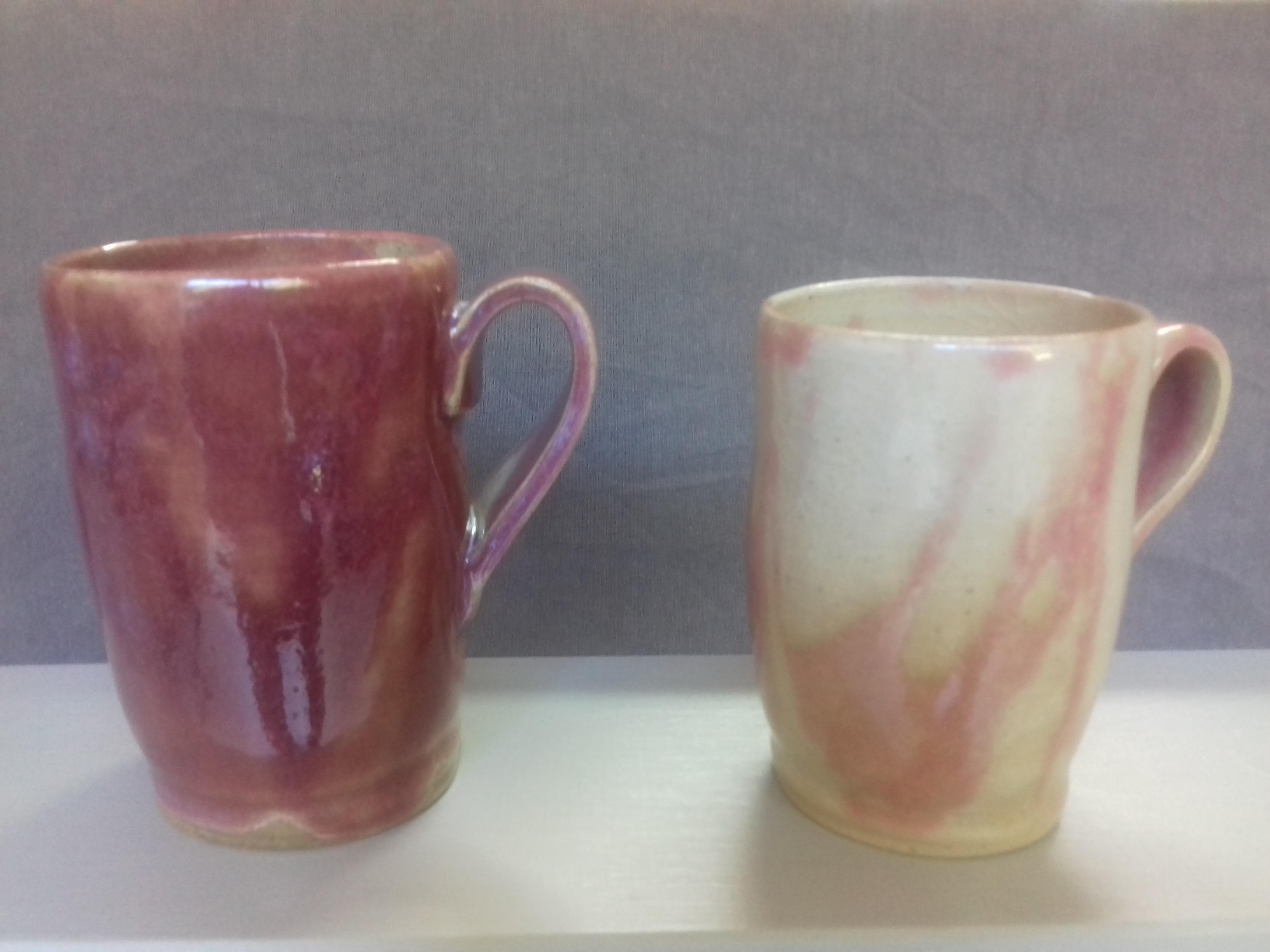 Mugs roses marbrés