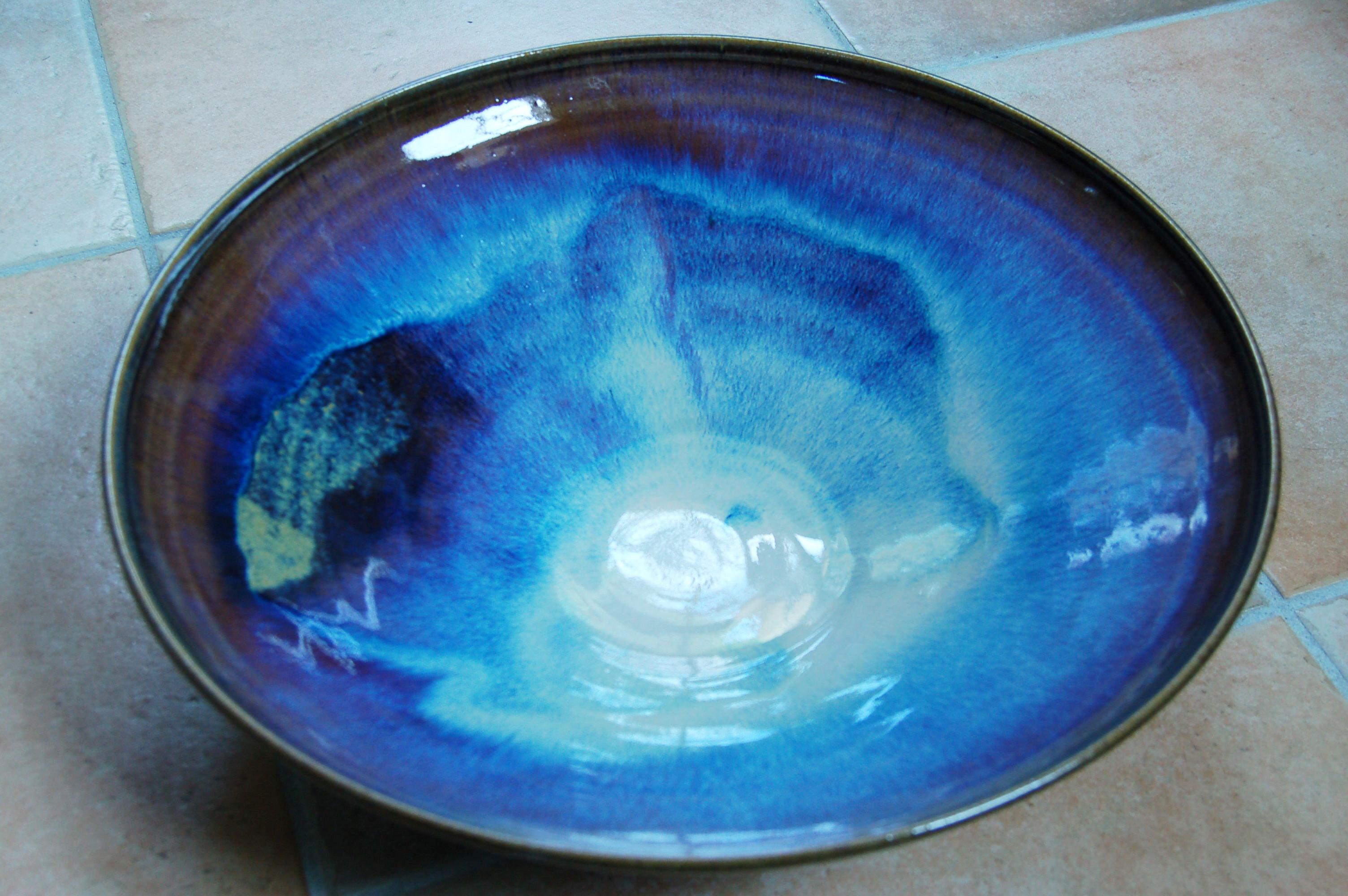 Coupe grès bleu