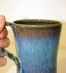 Mug à anse tressée grès bleu